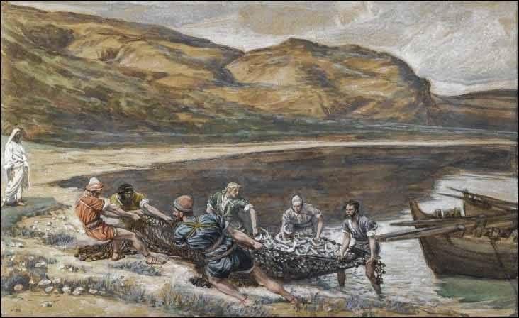 Znalezione obrazy dla zapytania Jezus ukazał się znowu nad Morzem Tyberiadzkim