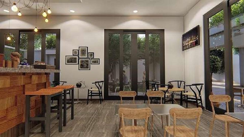 quán cafe phong cách mid-century