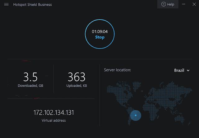 Screenshot Hotspot Shield Business 8.4.6 Full Version