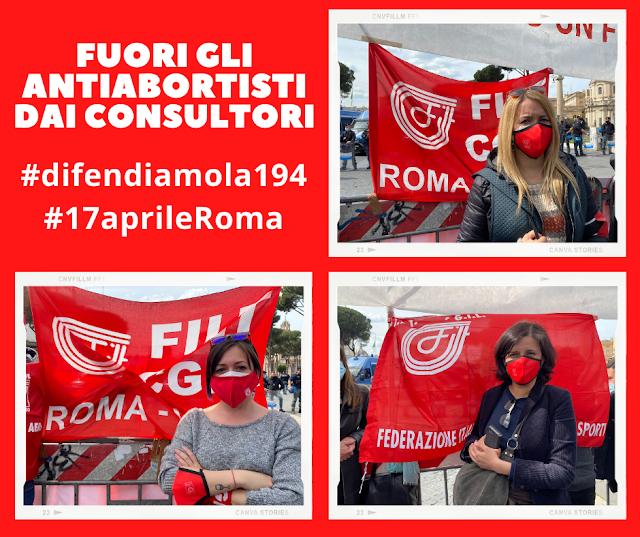 """LA FILT CGIL ROMA E LAZIO ADERISCE ALLA MANIFESTAZIONE """"DIFENDIAMO LA LEGGE 194"""""""