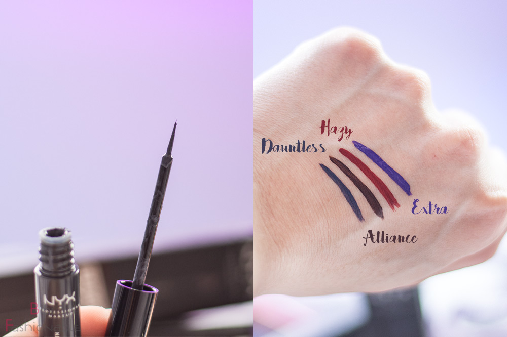 NYX Professional MakeUp Strictly Vinyl Eyeliner Pinsel Swatches