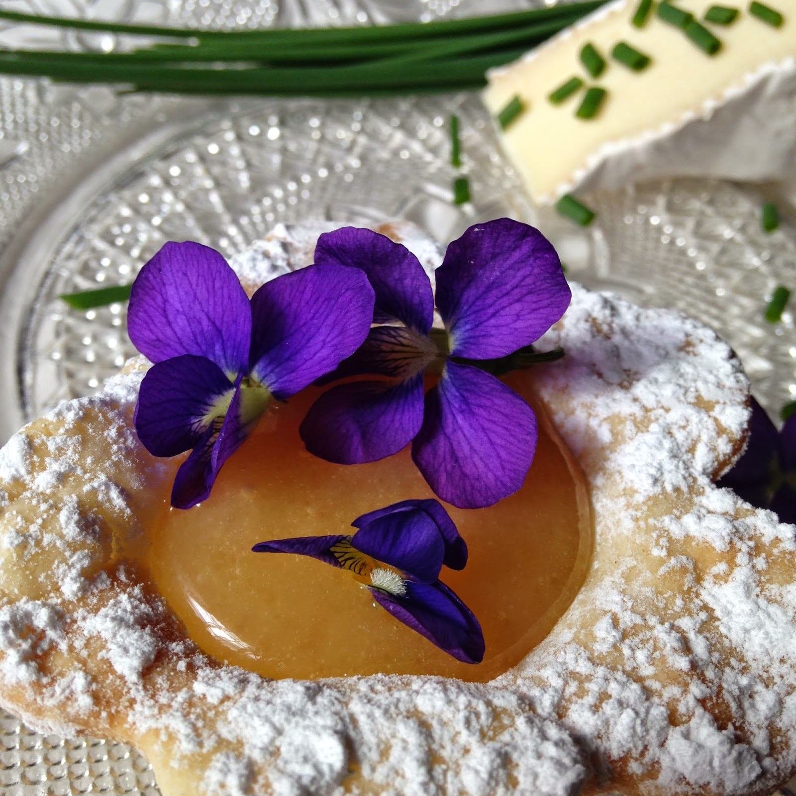 Garnishing With Edible Flowers And Brie With Honey Turnips 2
