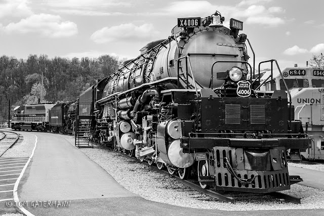 UP Big Boy 4006 sits on display at the National Museum of Transportation in Kirkwood, MO.