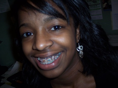 Black girl teens with braces