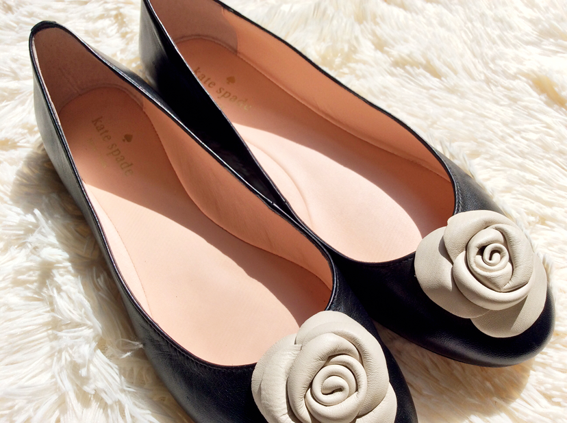 Kate Spade Walta Leather Ballerina Flats