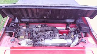 1986 Bertone X 1/9 engine