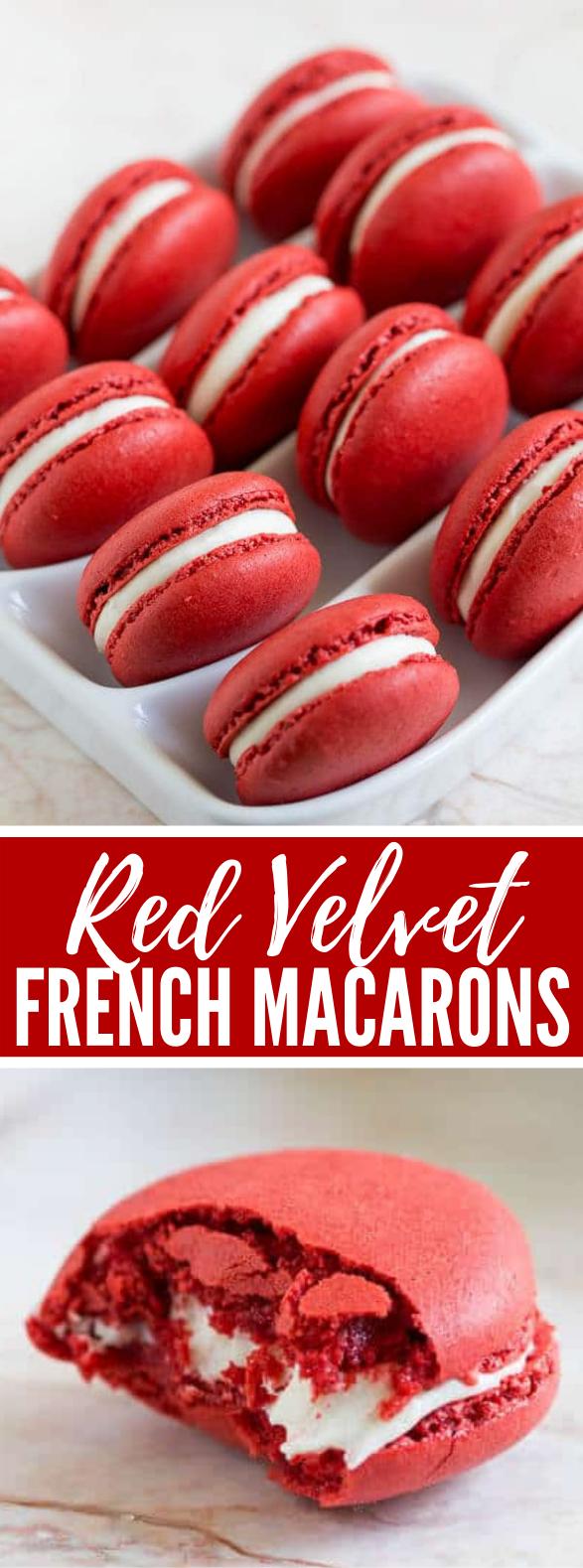 Red Velvet Macarons #cookies #dessert