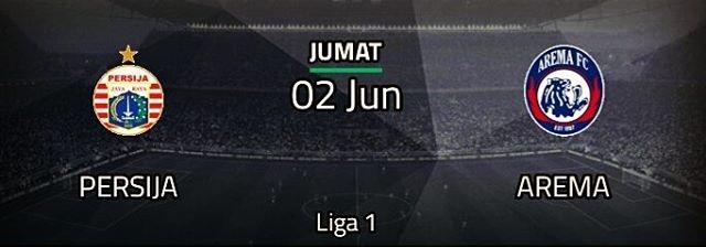 Persija vs Arema, 4 Juni 2017