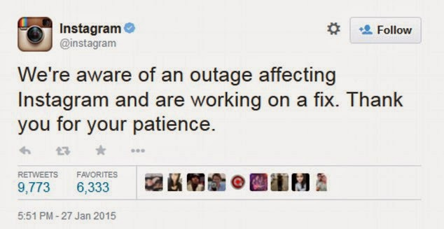 Instagram promises to fix the outage as fast as possible