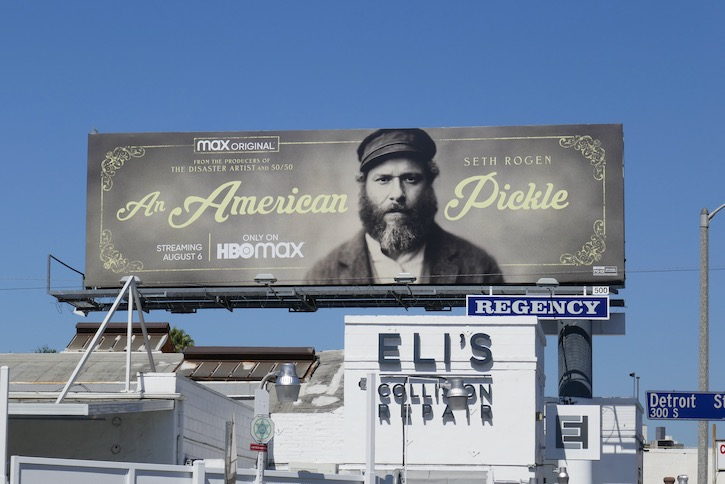 An American Pickle film billboard