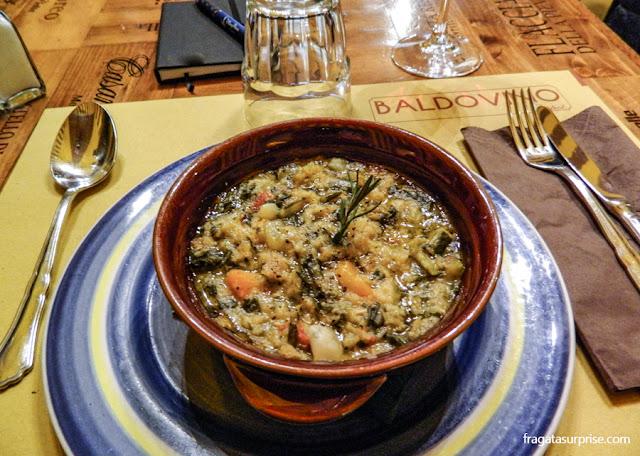 Ribollita, sopa típica de Florença