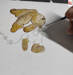 pintar a mano caja infantil