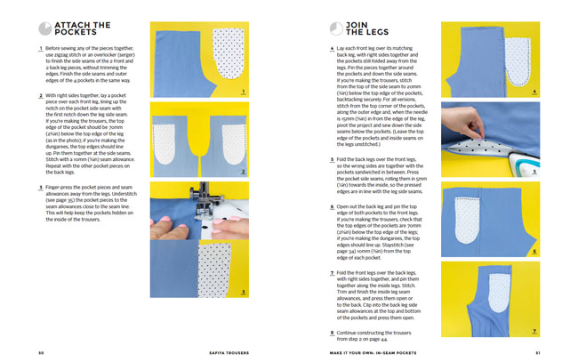 Safiya trousers, dungarees + playsuit sewing pattern - Make It Simple book - Tilly and the Buttons