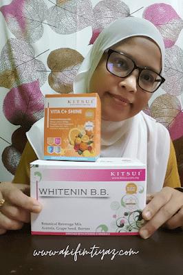 kitsui vitamin c+ shine, kitsui vita c shine, kitsui product, kitsui review, kitsui malaysia review, kitsui malaysia testimoni, kitsui whitenin BB, akifimtiyaz.com
