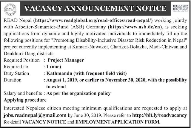 READ Nepal Job Vacancy