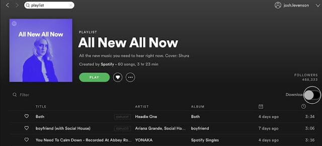 كيفية تحميل الأغاني من منصة Spotify