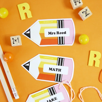Back to School Free Printable and Editable Name Tags