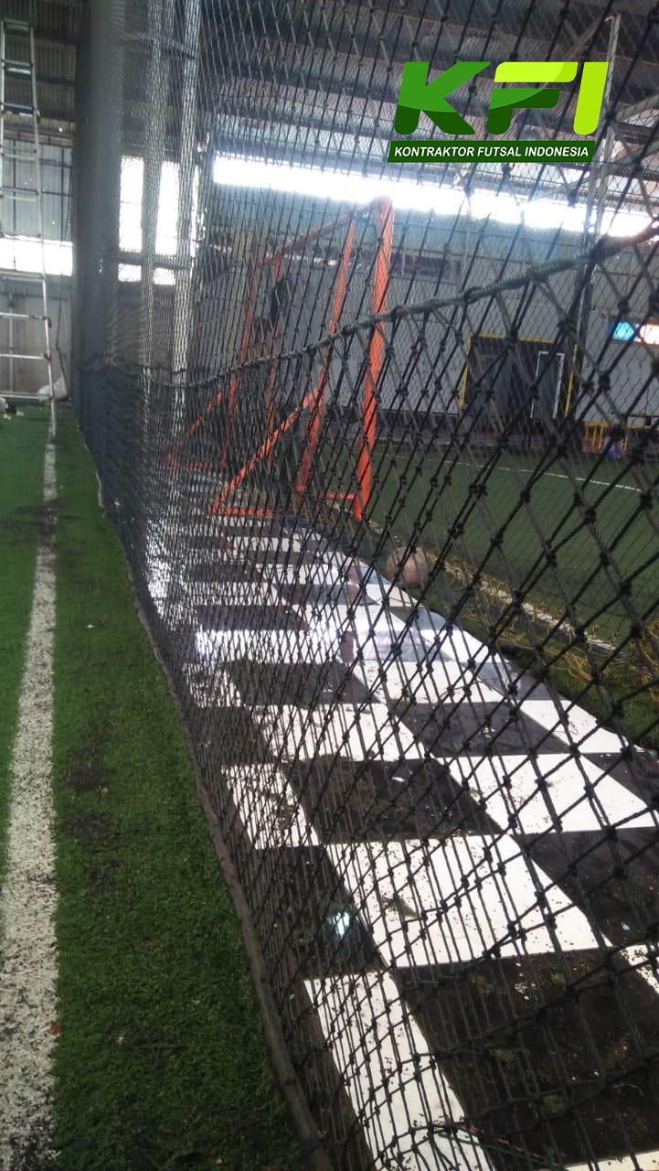 Jaring Lapangan Futsal Setelah Di Perbaiki