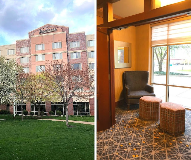 Relaxing evenings at the Radisson on John Deere Commons in Moline, Illinois.