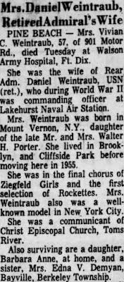 Vivian Porter Obituary