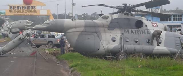 Video: Así fue el desplome de un Helicóptero de La Marina en Veracruz