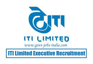 ITI Limited Executive Recruitment 2020