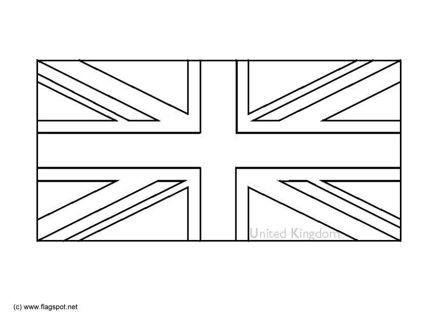 Bandiera Inglese Da Colorare.Bandiera Inglese Da Colorare
