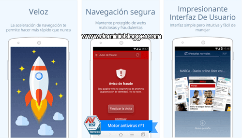 Navega rapido y seguro en tu telefono movil con CM Browser