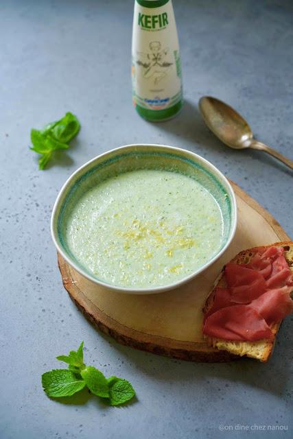 cuisine facile , rapide , recettes d'été ,menthe , concombre , lait fermenté