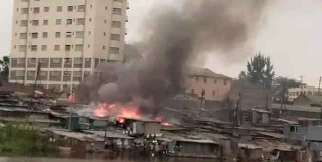 KIangemi houses on fire