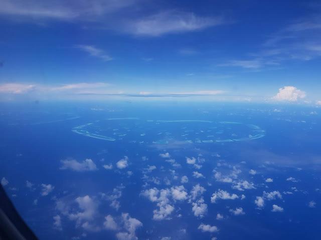 Maldive dall'aereo