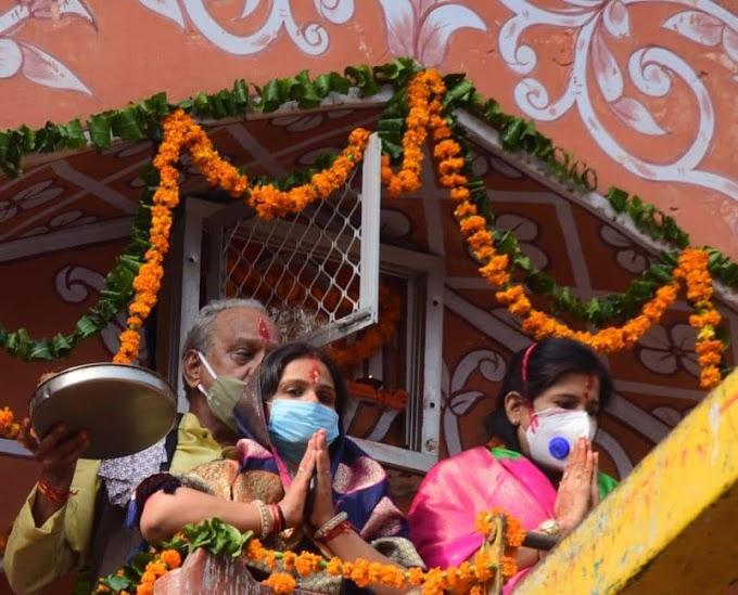 293 वें जयपुर स्थापना दिवस पर ग्रेटर और हैरिटेज महापौर ने प्रथम पूज्य मोतीडूंगरी गणेश मंदिर और गंगापोल गेट पर पूजा कर शहर की समृद्वि के लिये की प्रार्थना