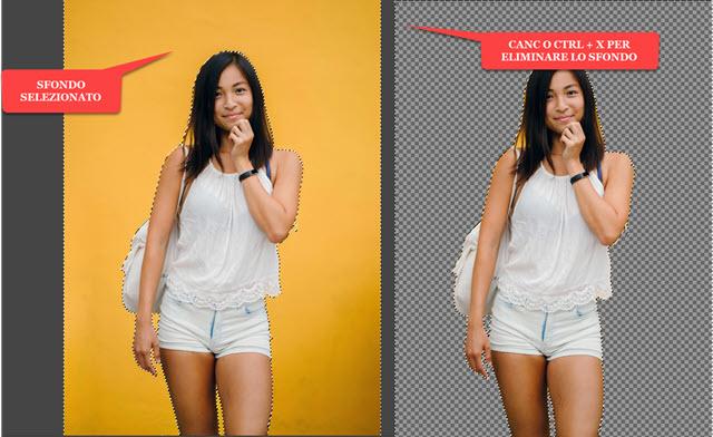 eliminare lo sfondo dalle foto con gimp