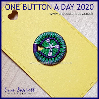 One Button a Day 2020 by Gina Barrett - Day 111: Budding