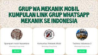 Link grup whatsapp mekanik indonesia