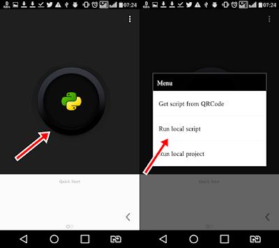Cara Setting Qpython telkomsel