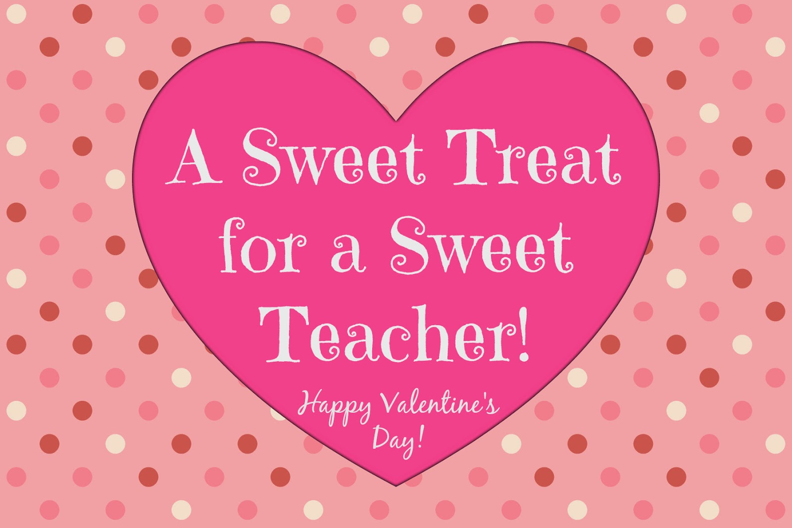 East Coast Mommy Simple Teacher Valentine with free printable tag