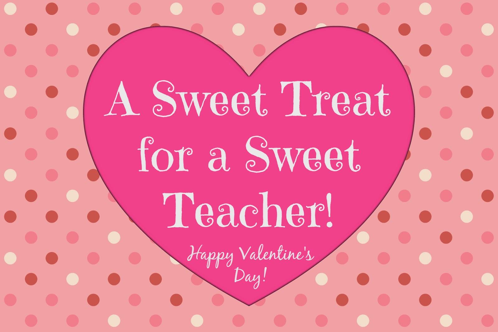 East Coast Mommy: Simple Teacher Valentine... with free ...