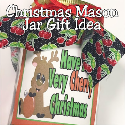 Make your Christmas gift giving super quick and easy with this Very Cherry Christmas Mason jar gift idea.  Using a few simple craft items and your favorite cherry candy, you'll be done with your Christmas gifts for friends, family, teachers, coworkers, and more quickly!