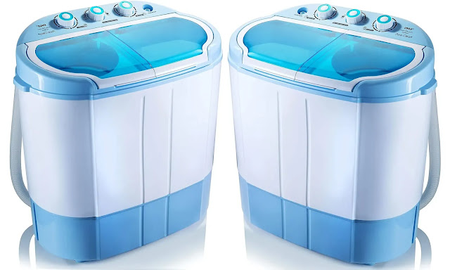7- Pyle Portable Mini Washing Machine and dryer