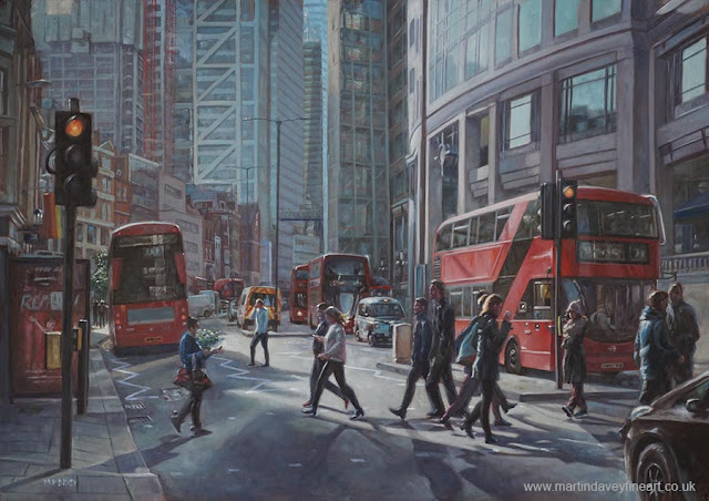 urban Liverpool street London art Martin Davey