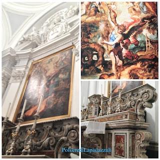 Chiesa barocca con altari in marmo policromo