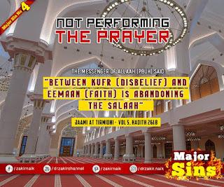 MAJOR SIN. 4. NOT PERFORMING THE PRAYER | Quran Quote | Kabira Gunah