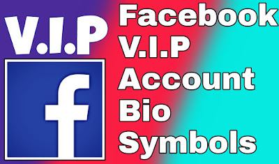 Facebook vip account bio symbols