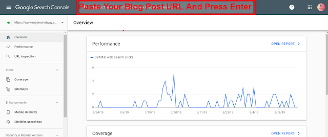 SEO - URL Inspection Tool From Google Search Console.