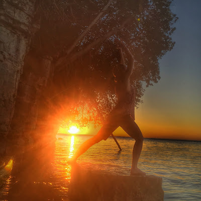 High Lunge at Sunset
