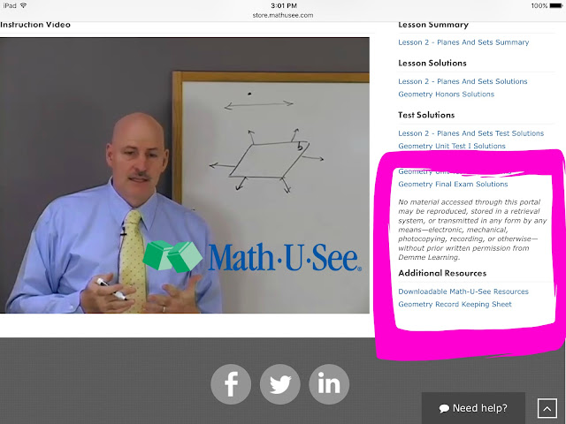 homeschool math, streaming video