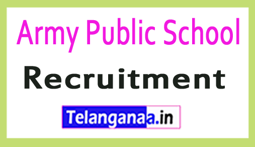 Army Public School APS Recruitment