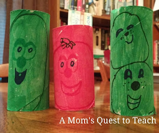 Larry, Bob and the French Peas Veggie Tales Craft