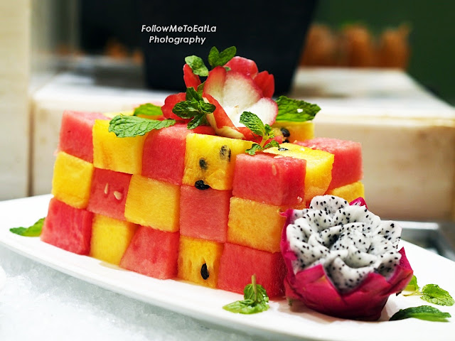 Lovely Display Of Cubed Watermelons